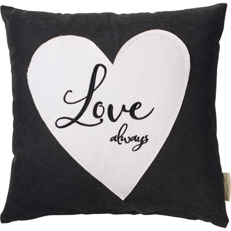"Pillow - Love Always - 16"" x 16"" - Cotton, Polyester, Zipper"