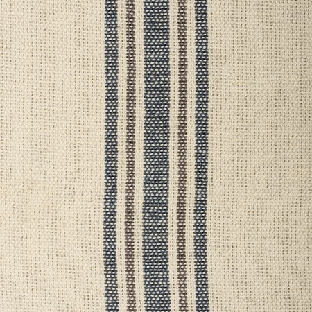 "Fabric - Cream, 5 Blue & Gray Stripes - 54"" x 1 Yard - Cotton"