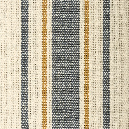 "Fabric - Cream, 5 Blue & Gold Stripes - 54"" x 1 Yard - Cotton"