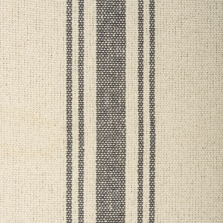 "Fabric - Cream, 5 Gray Stripes - 54"" x 1 Yard - Cotton"