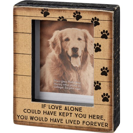 "Block Frame - You Would Have Lived Forever - 3.25"" x 4"" x 1"", Fits 2"" x 3.25"" Photo - Wood, Paper, Glass"