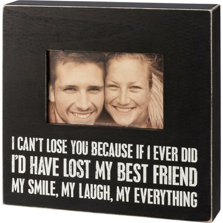 "Box Sign Frame - Everything - 10"" x 10"" x 2"", Fits 6"" x 4"" Photo - Wood"