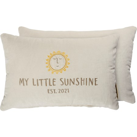 "Pillow - Little Sunshine 2021 - 15"" x 10"" - Velvet"