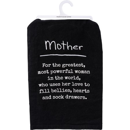 "Dish Towel - Mother - 28"" x 28"" - Cotton"