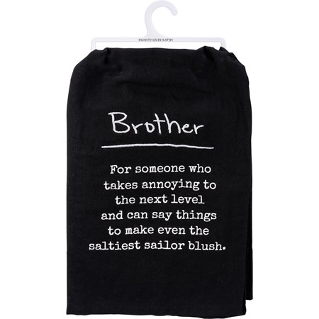 "Dish Towel - Brother - 28"" x 28"" - Cotton"
