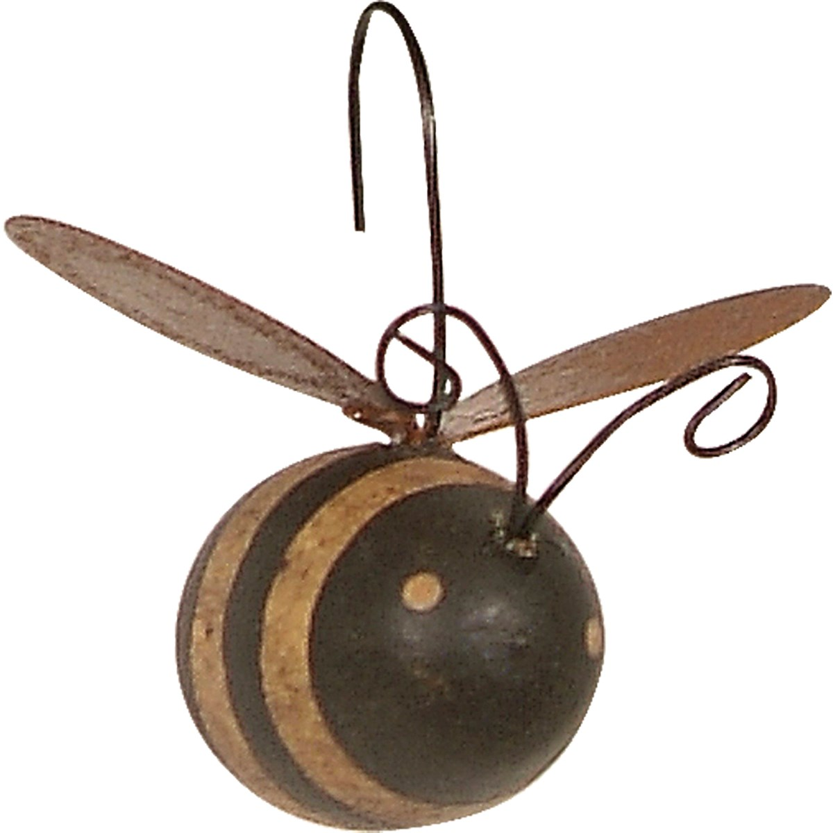"Ornament Set - Bees - 1"" x 1.50"" x 1.50"" - Wood, Metal, Wire"