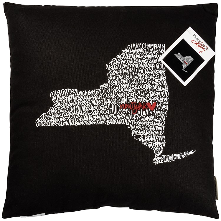 "Pillow - New York - 18"" x 18"" - Cotton"