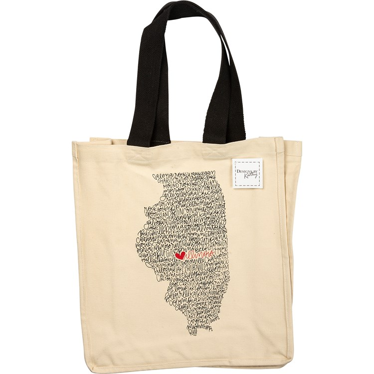 "Tote - Illinois - 14"" x 15.50"" - Cotton"