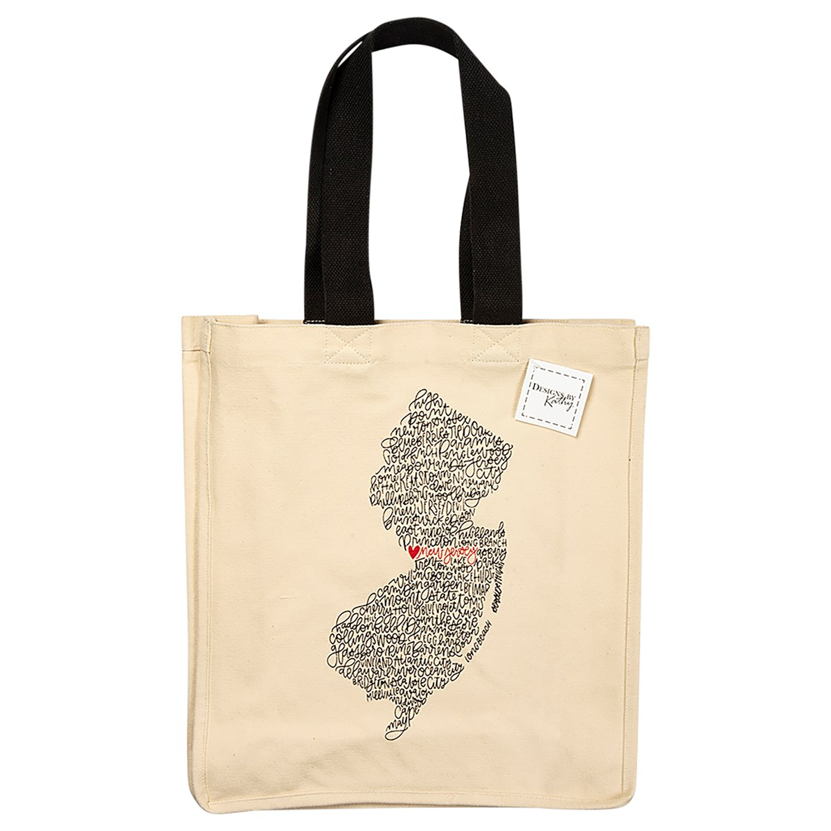 "Tote - New Jersey - 14"" x 15.50"" - Cotton"