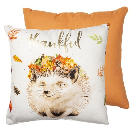 "Pillow - Thankful - 16"" x 16"" - Cotton"