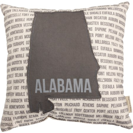 "Pillow - Alabama - 16"" x 16"" - Cotton"