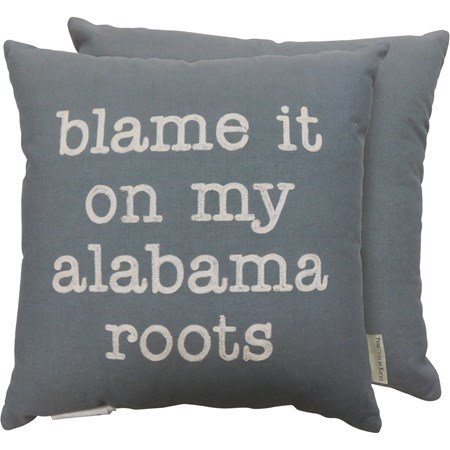 "Pillow - Alabama Roots - 16"" x 16"" - Cotton"