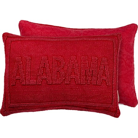 "Pillow - Alabama - 19"" x 12"" - Cotton, Canvas"