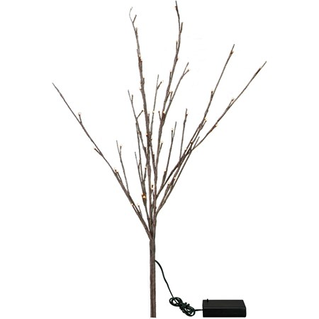 "Battery Operated Willow Twig - 60L Small - 19.75"" Tall, 60 Lights, 20"" Cord, 1 Stem - Wire, Plastic, Cord"