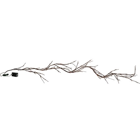 Willow Twig Garland - 6' Long, 96 Lights, 16' Cord - Wire, Plastic, Cord