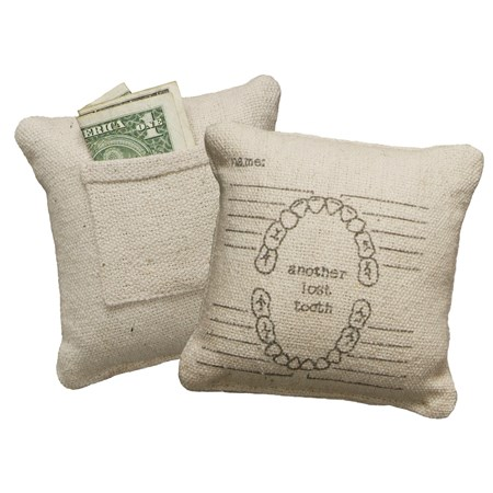 "Pillow - Another Lost Tooth - 5"" x 5"" - Cotton, Polyester"
