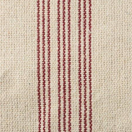 "Fabric - Cream, 9 Red Stripes - 54"" x 1 Yard - Cotton, Polyester"