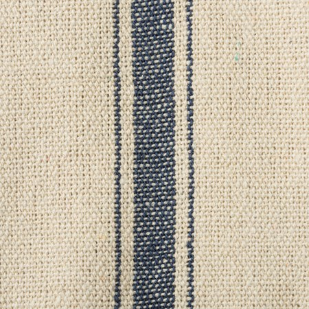 "Fabric - Cream, 3 Blue Stripes - 54"" x 1 Yard - Cotton, Polyester"