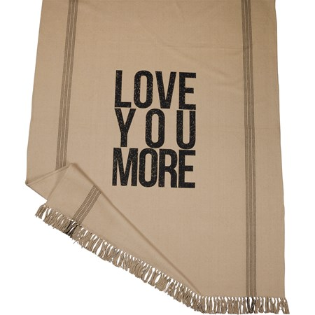 "Throw - Love You More - 50"" x 60"" - Cotton"