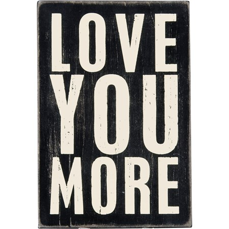 "Wooden Postcard - Love You More - 4"" x 6"" - Wood"