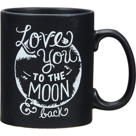 Mug - Love You To The Moon & Back - 20 oz. - Stoneware