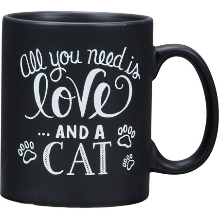 Mug - All You Need Is Love And A Cat - 20 oz. - Stoneware