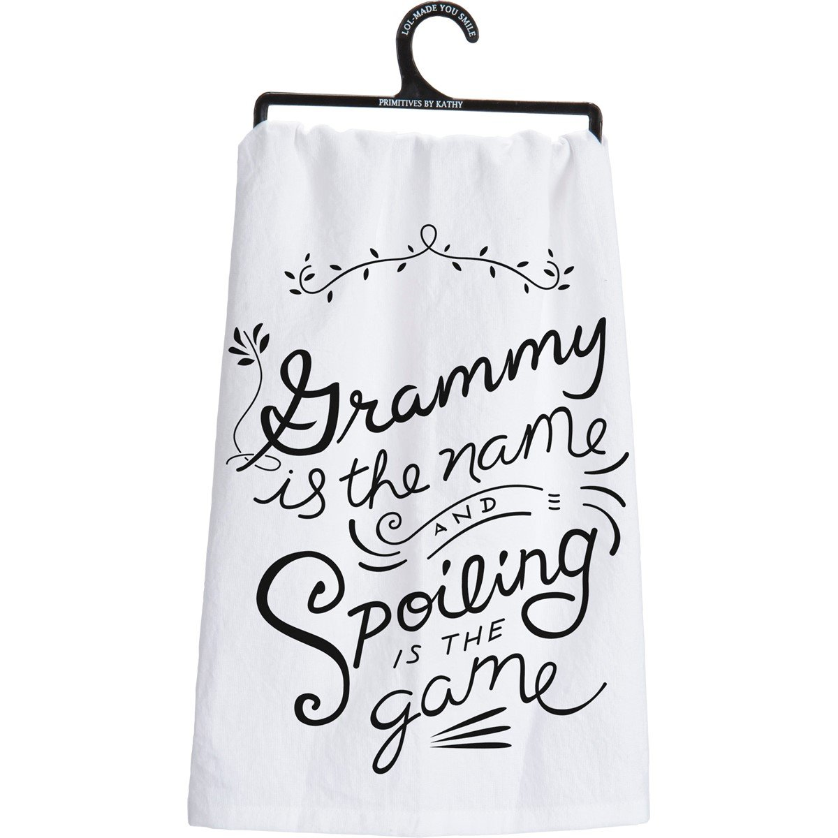 "Dish Towel - Grammy Is The Name Spoiling - 28"" x 28"" - Cotton"