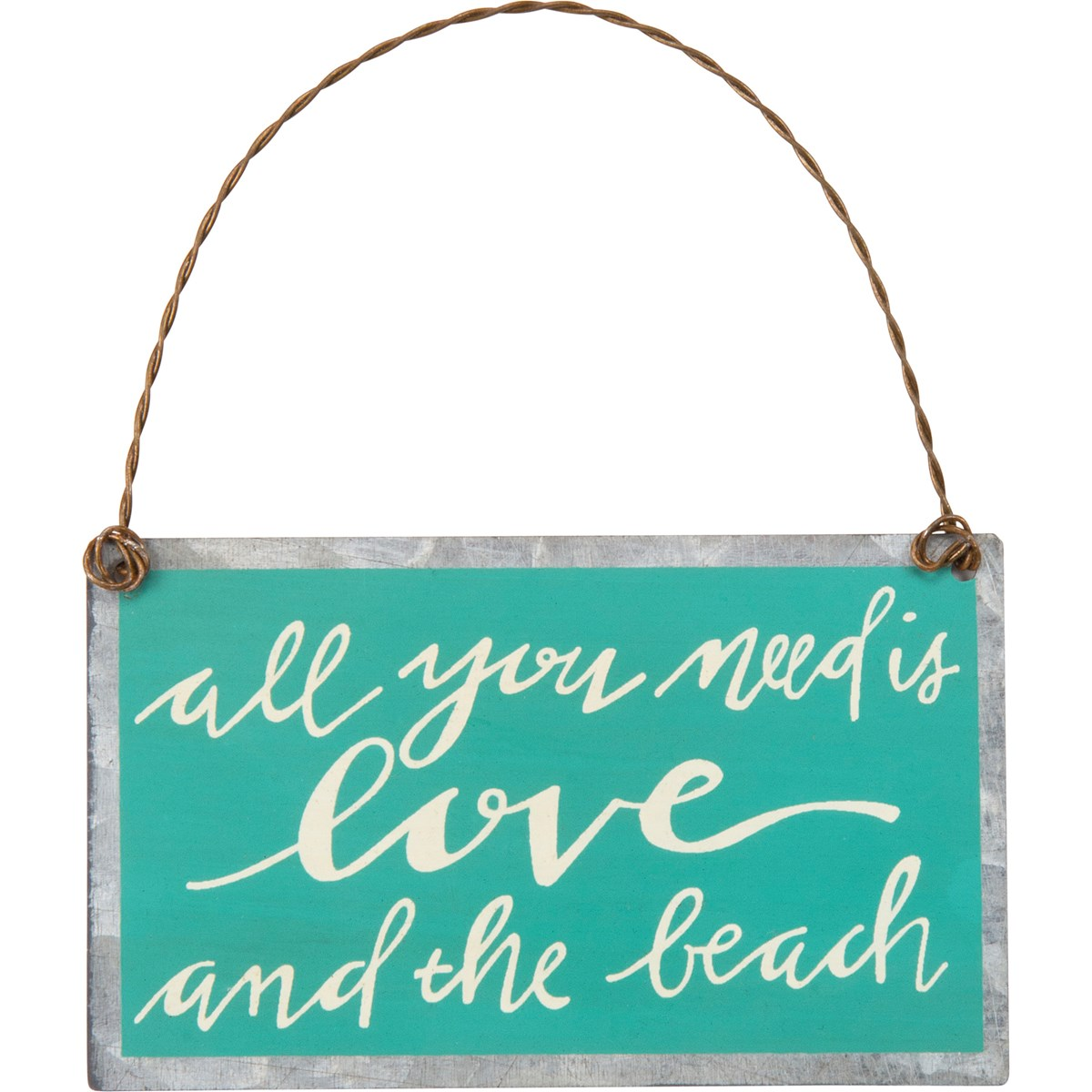 "Ornament - And The Beach - 3.75"" x 2.25"" - Metal, Wire"