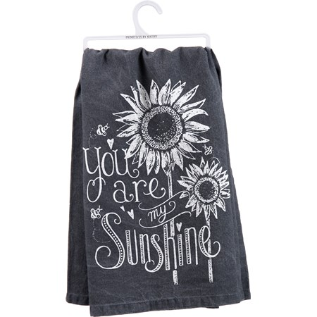 "Dish Towel - You Are My Sunshine - 28"" x 28"" - Cotton"