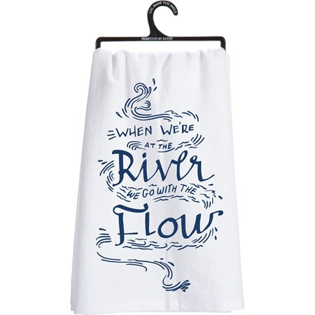 "Dish Towel - Go With The Flow - 28"" x 28"" - Cotton"