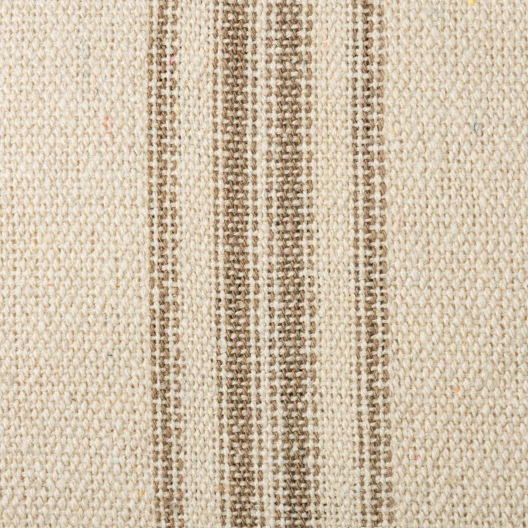 Fabric - Cream, 12 Tan Stripes - 1 Yard - Cotton, Polyester