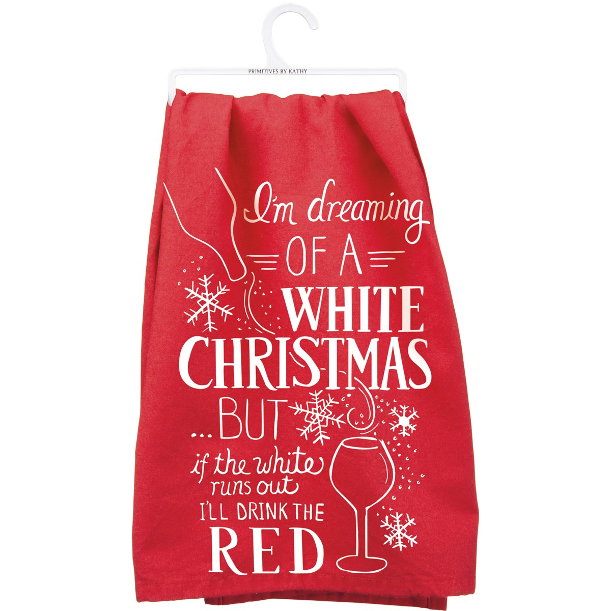 "Dish Towel - White Christmas - 28"" x 28"" - Cotton"