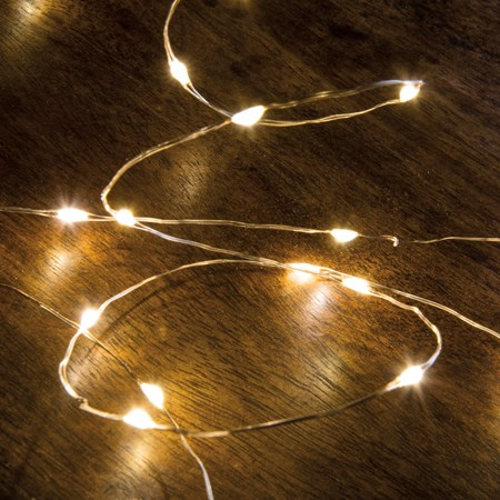 "Wire String Lights - 50 L - 105"" Long, 50 Lights, 12"" Cord  - Wire, Plastic, Cord"