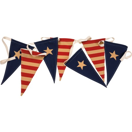 "Pennant Banner - Flags - 144"" x 13"" - Fabric"