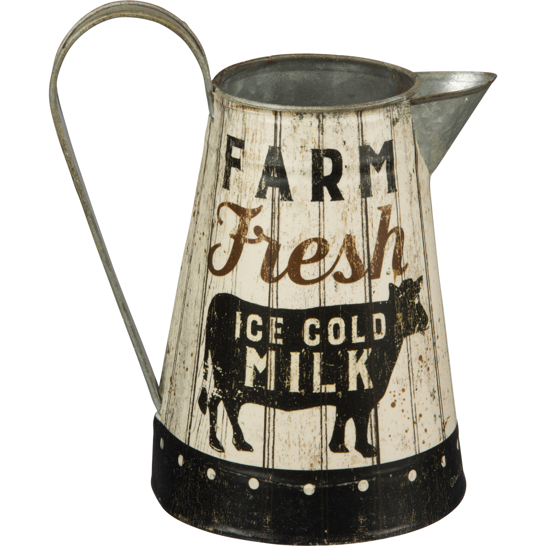 Primitives by Kathy 38311 Rustic Tin Pitcher Small Bee Happy