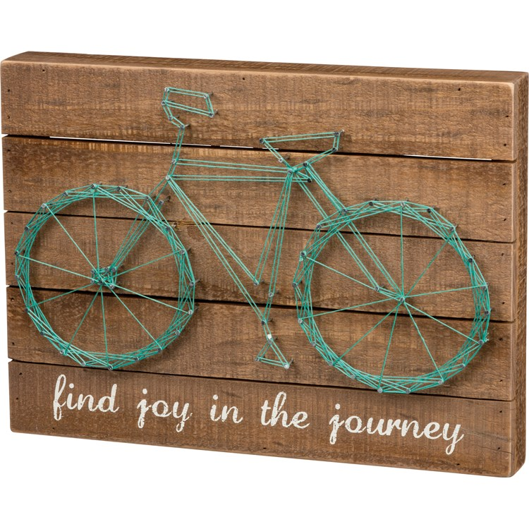 "String Art - Find Joy in The Journey - 15"" x 11"" x 1.75"" - Wood, Metal, String"