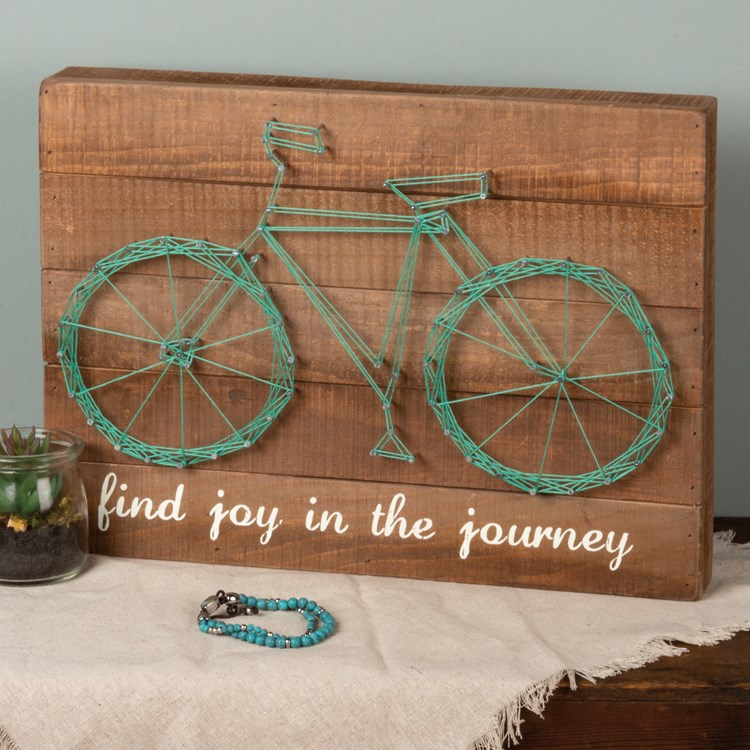 "String Art - Go Your Own Way - 15"" x 11"" x 1.75"" - Wood, Metal, String"