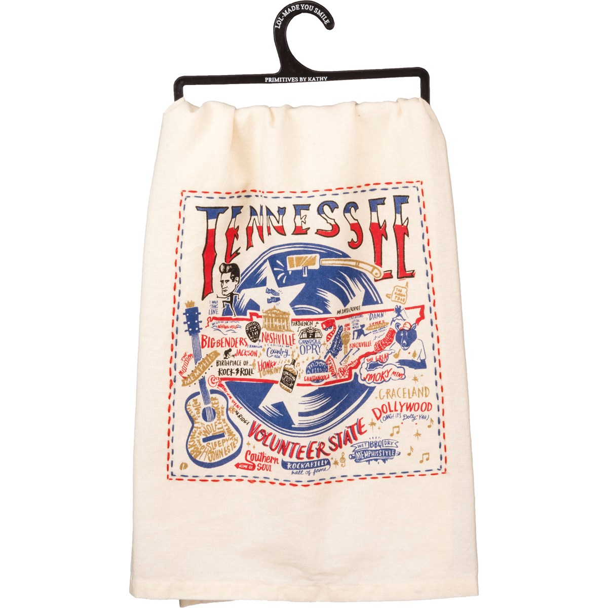 "Dish Towel - Tennessee - 28"" x 28"" - Cotton"