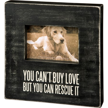 "Box Frame - Rescue It - 10"" x 10"" x 2"", Fits 6"" x 4"" Photo - Wood, Glass"