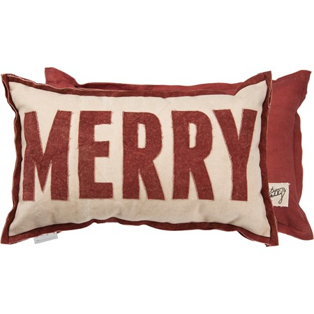 "Pillow - Merry Red - 22"" x 13"" - Canvas"