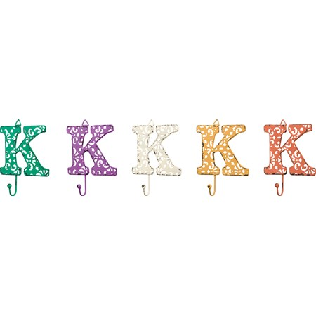 "Fancy Metal Letter K - 4"" x 3.50"" - Metal"