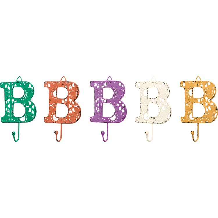 "Fancy Metal Letter B - 3.50"" x 3.50"" - Metal"