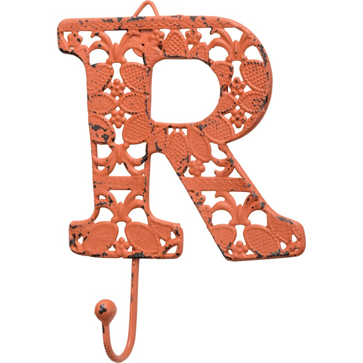 "Fancy Metal Letter R - 3.88"" x 3.50"" - Metal"