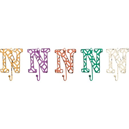 "Fancy Metal Letter N - 3.63"" x 3.50"" - Metal"