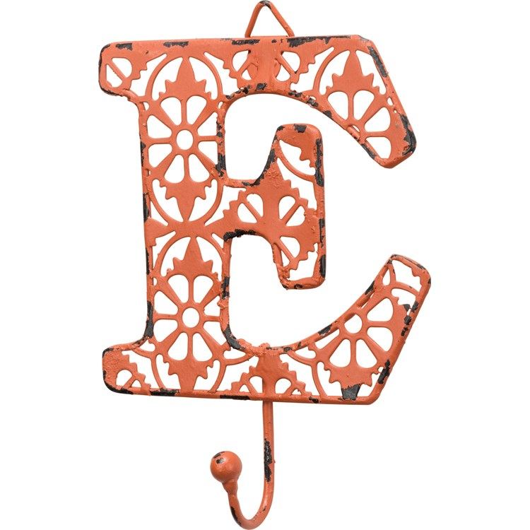 "Fancy Metal Letter E - 3.63"" x 3.50"" - Metal"