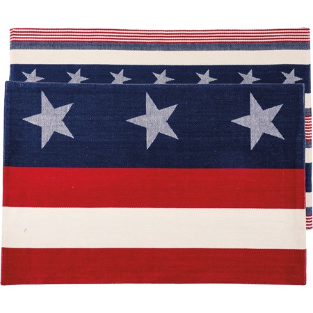 "Placemat - Stars & Stripes - 13"" x 19"" - Cotton"