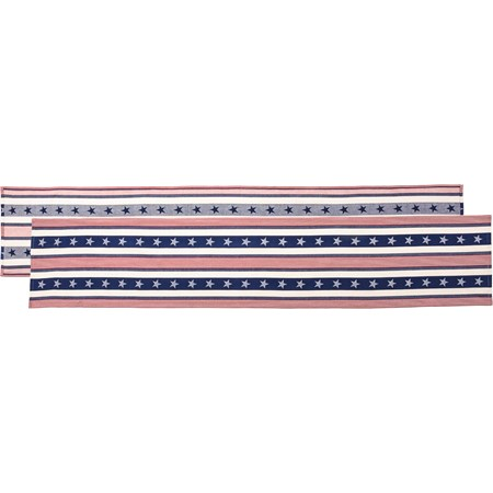 "Runner - Stars & Stripes - 72"" x 13"" - Cotton"