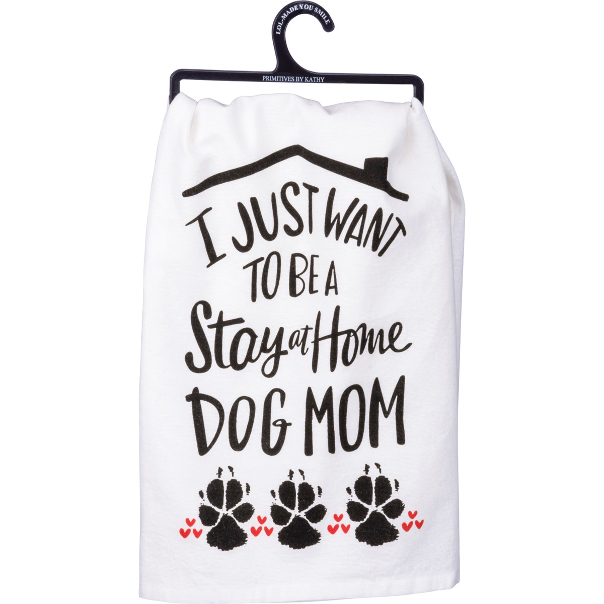 "Dish Towel - Stay At Home Dog Mom - 28"" x 28"" - Cotton"