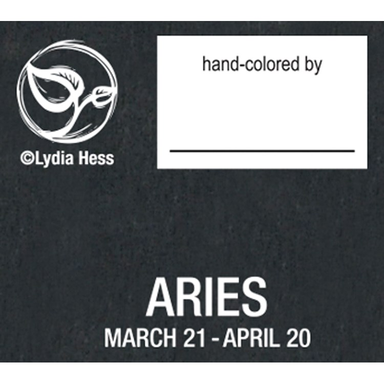 "Color Sign - Aries - 8"" x 10"" - Wood, Paper"