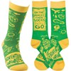 Socks - Adventure Awaits - One Size Fits Most - Cotton, Nylon, Spandex